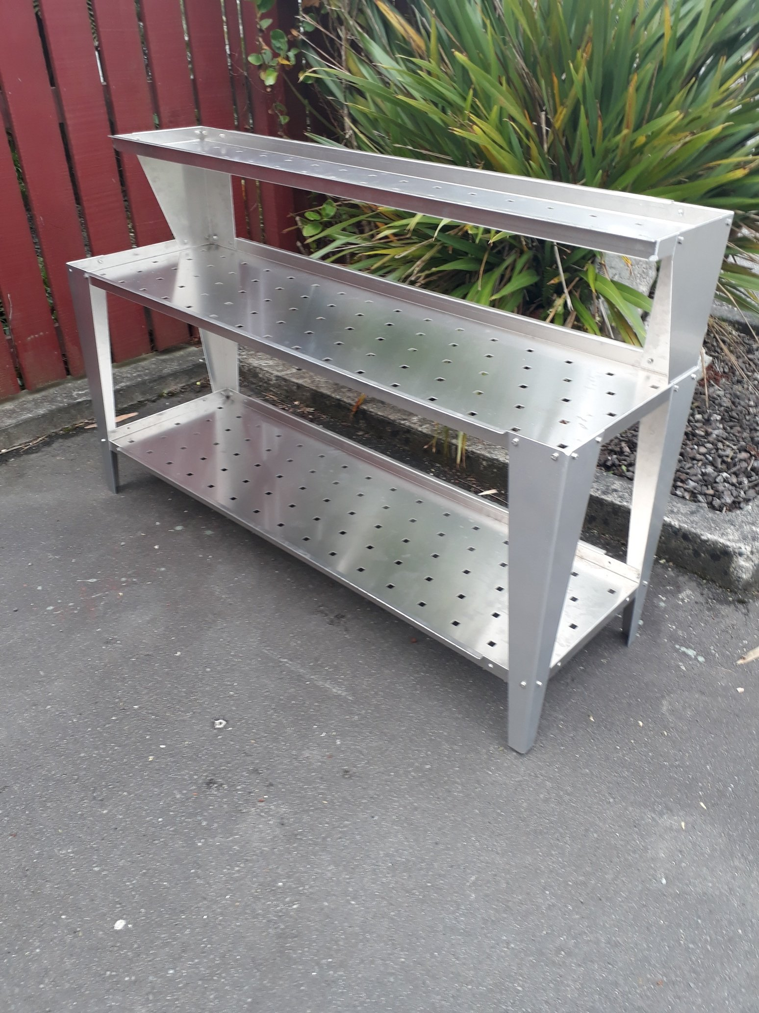 Aluminium Bench 3 Tier 500 x 1600mm