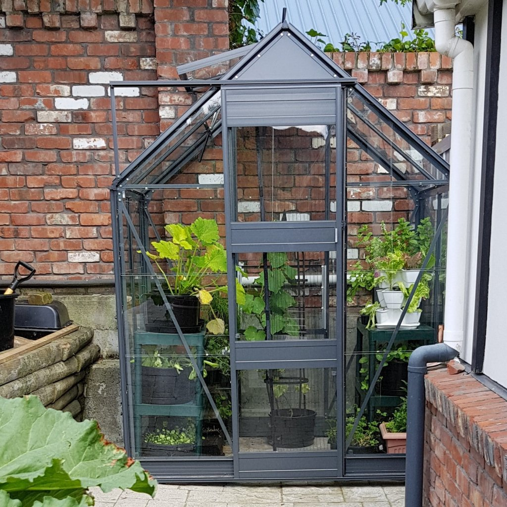 powder coated glasshouse